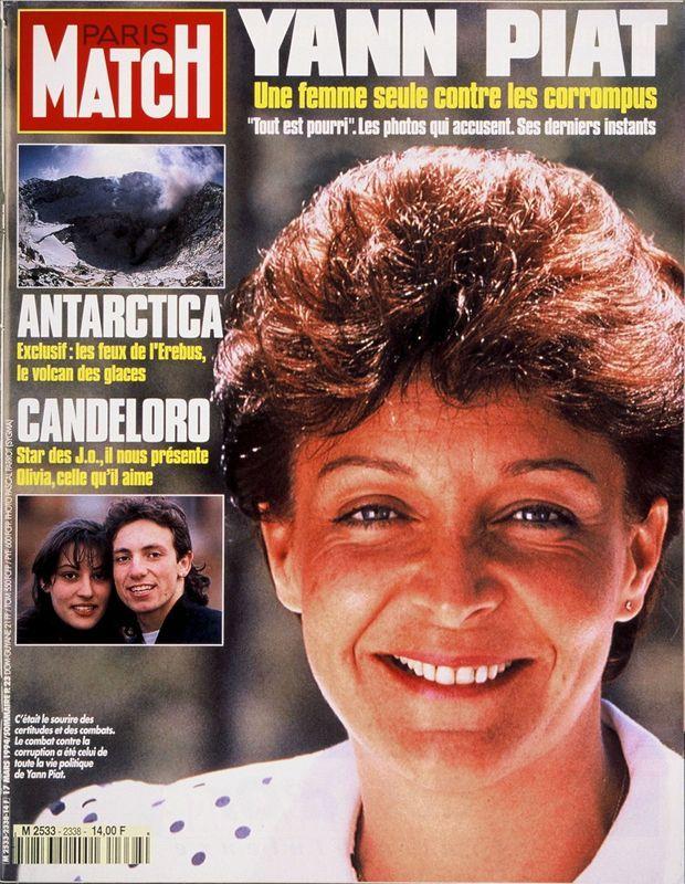 Yann Piat en couverture de Paris Match n°2338, daté du 17 mars 1994