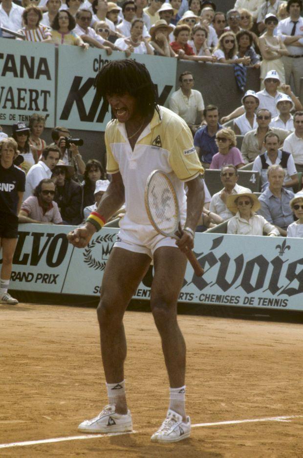 Yannick Noah en finale de Roland-Garros, le 5 juin 1983.