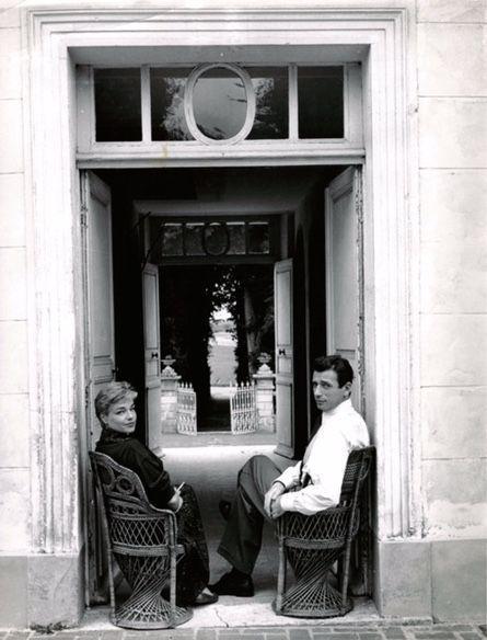 Yves Montand et Simone Signoret dans leur refuge normand.