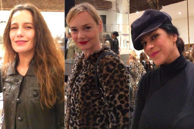 Zoé Félix, Julie Judd et Jovanka Sopalovic à l'inauguration de la boutique Antik Batik.