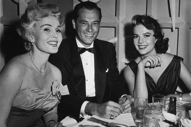 Zsa Zsa Gabor, Conrad Hilton et Natalie Wood, en 1957.