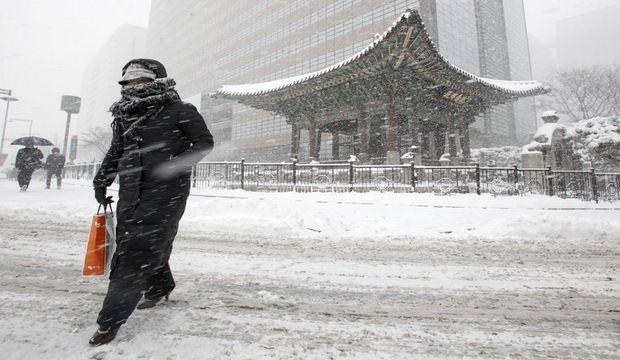 Les Séouliens se sont équipés pour surmonter l'hiver rugueux que connaît la capitale sud-coréenne.