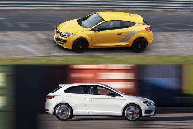Comparatif : Leon Cupra et Mégane RS 275 Trophy