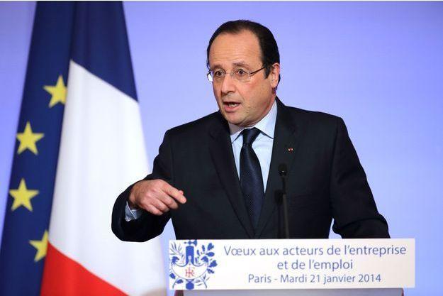François Hollande mardi lors de ses voeux «aux acteurs de l'entreprise et de l'emploi».