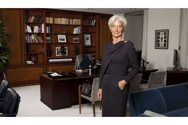 Christine Lagarde dans son bureau à Washington.