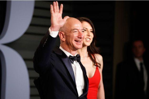 Le fondateur d'Amazon Jeff Bezos et son épouse MacKenzie à la soirée organisée par Vanity Fair en marge des Oscars.