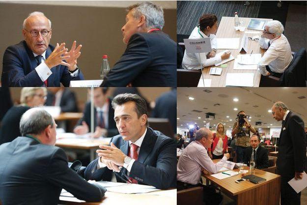 Les ambassadeurs français ont rencontré des chefs d'entreprise mardi à Paris.