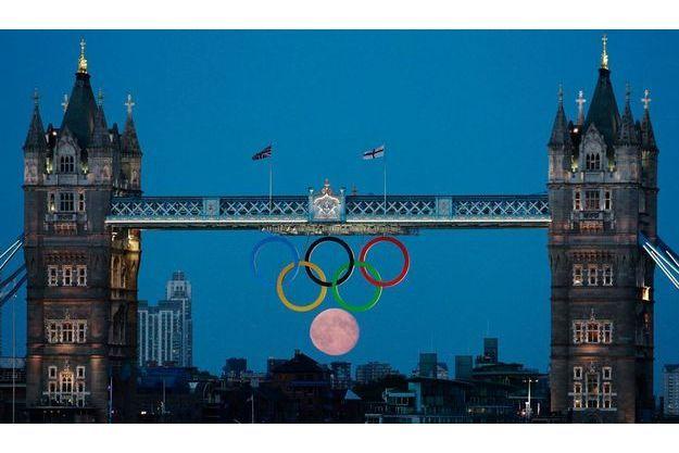 Le Tower Bridge pendant les Jeux Olympiques de Londres.