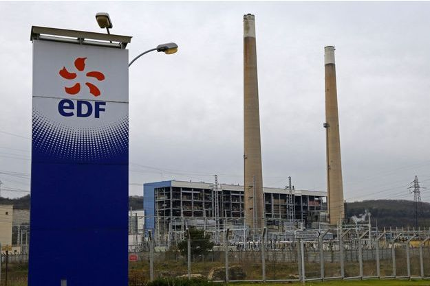 La centrale électrique EDF de Porcheville.