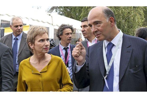 Pierre Moscovici, à droite.