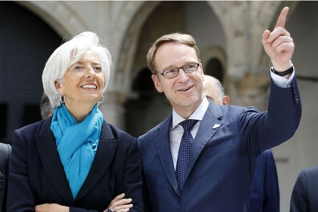 Christine Lagarde, la directrice générale du FMI, et Jens Weidmann, patron de la banque centrale allemande.