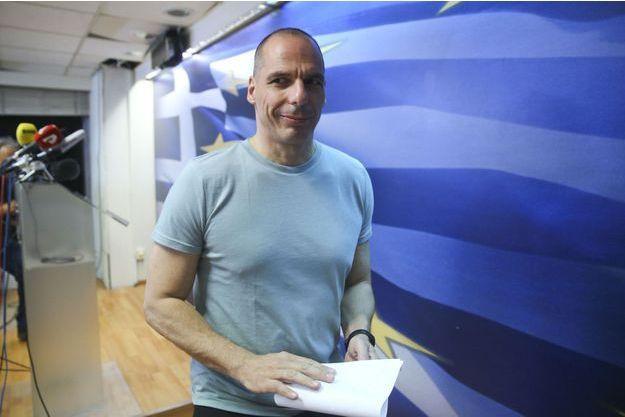 """Yanis Varoufakis, le 5 juillet dernier, au soir de la victoire du """"non"""" au référendum organisé par le gouvernement."""