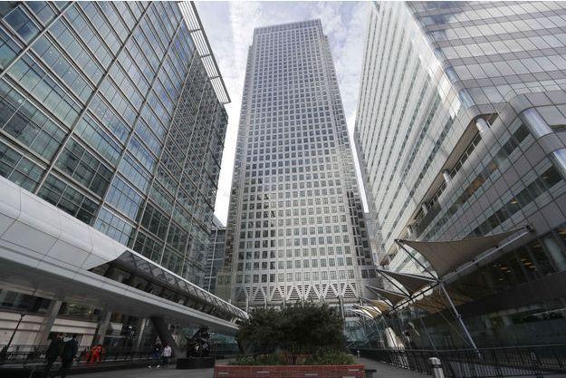 L'immeuble qui abrite actuellement les locaux de l'Agence bancaire européenne dans le quartier de Canary Wharf, à Londres.