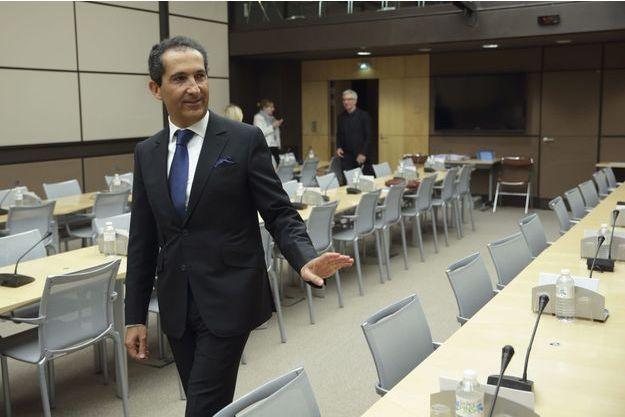 Patrick Drahi à Paris, le 27 mai dernier, lors d'une audition à l'Assemblée nationale.