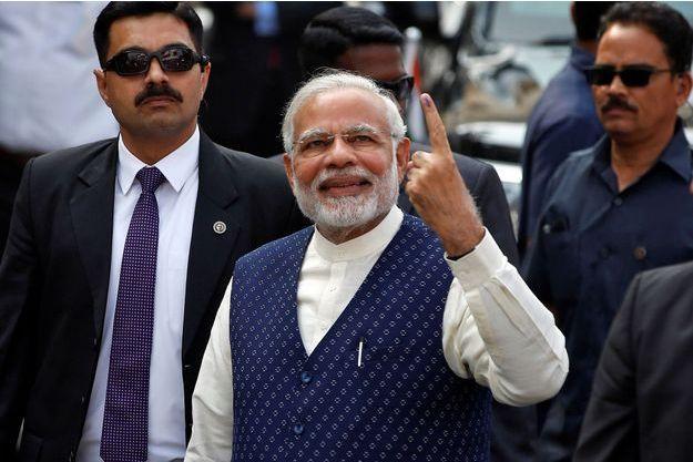 Le Premier ministre indien Narendra Modi à Ahmedabad, le 14 décembre 2017.