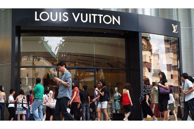 Un magasin Vuitton à Singapour.