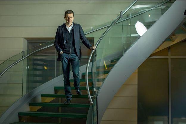 De retour d'Athènes, ce 9février, Matthieu Pigasse au siège de la banque Lazard, à Paris.