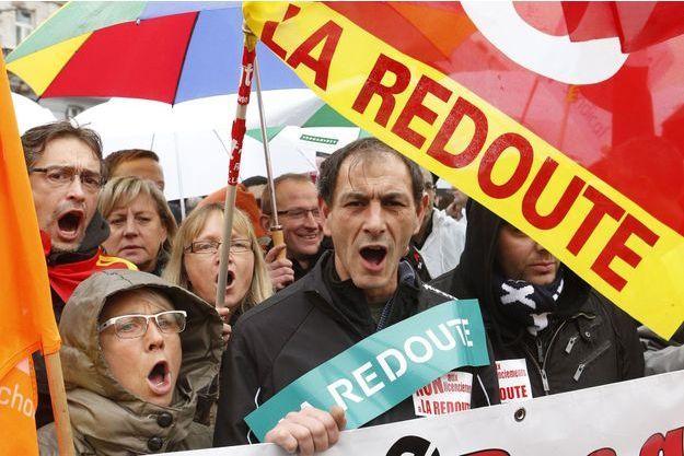 Les salariés de La Redoute ont manifesté le 7 novembre dernier.