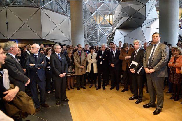 Mardi, un hommage à Christophe de Margerie a été rendu au siège de la Défense, en présence de Thierry Desmarest et de Patrick Pouyanné.
