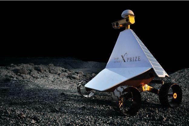 Photographié en novembre 2012  dans le désert de Californie, le robot affronte des aspérités similaires à celles de la Lune.