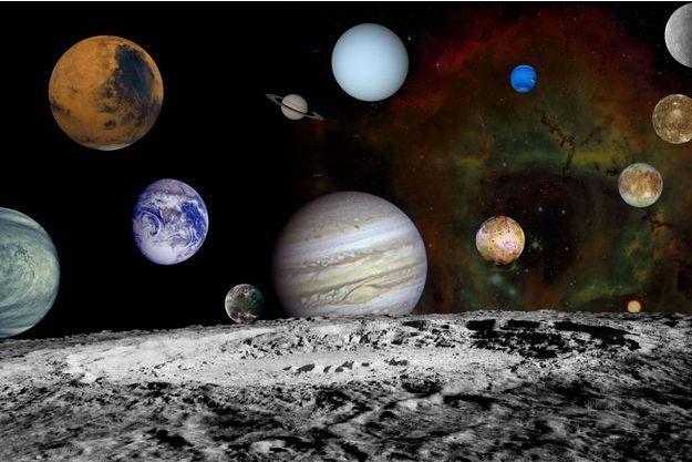 Les planètes du système solaire.