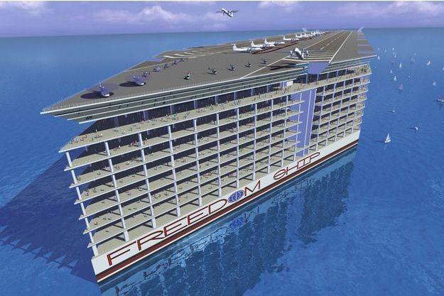 «Freedom Ship» disposera de 17000 unités d'habitation pouvant héberger près de 60000 personnes