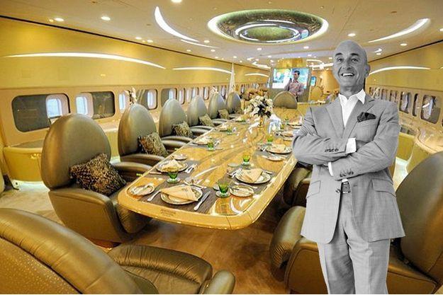 L'aménagement intérieur  du 747 présidentiel  d'un chef d'Etat africain.
