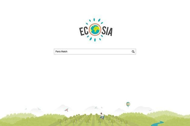 Capture d'écran du navigateur Ecosia.org