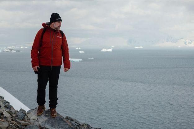 Javier Bardem en Antarctique, au niveau du détroit de Gerlache, le 25 janvier 2018.