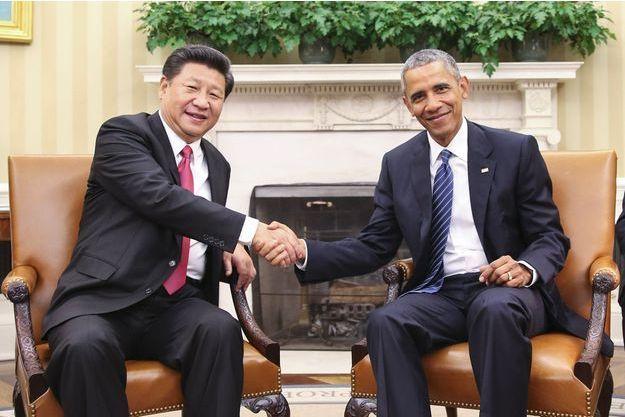 Xin Jinping et Barack Obama en septembre 2015 à la Maison-Blanche.