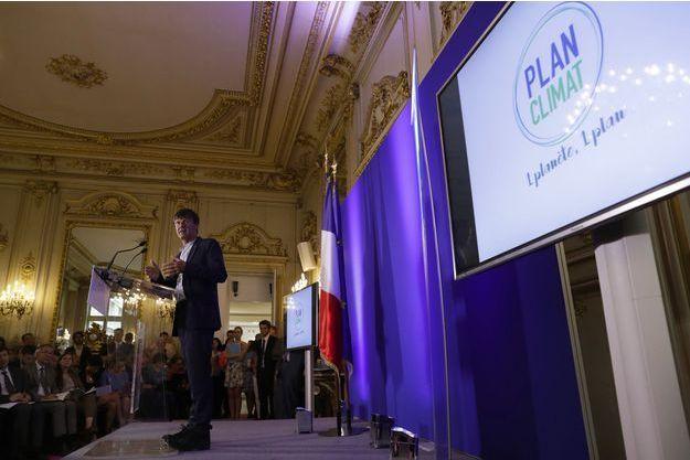 Nicolas Hulot a présenté son Plan climat jeudi au ministère de la Transition écologique et solidaire.