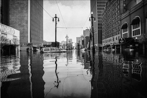 La Nouvelle Orléans après le passage de l'ouragan Katrina en 2005.