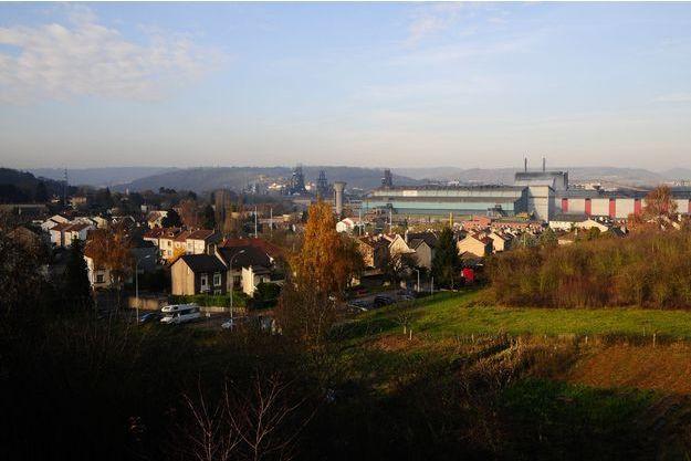 Vue aérienne du site d'ArcelorMittal à Florange.