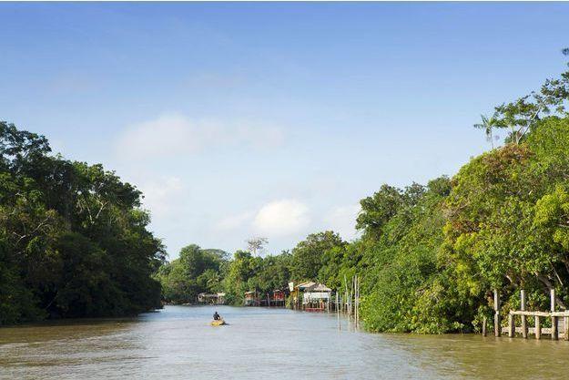 Une partie du fleuve Amazone au Brésil.