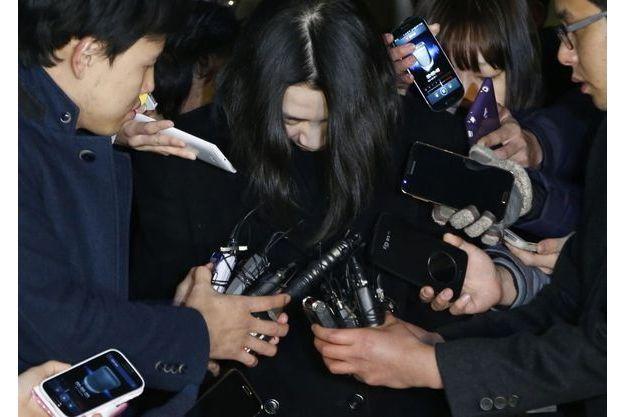 Cho Hyun-ah lors de sa comparution le 30 décembre.