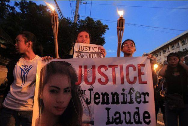 En octobre 2014, les Philippins réclament justice pour Jennifer Laude