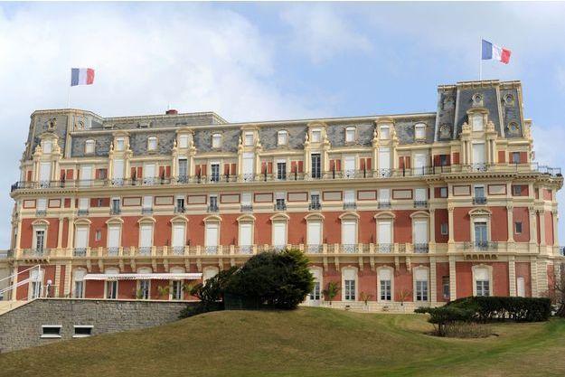 L'Hôtel du Palais, à Biarritz.