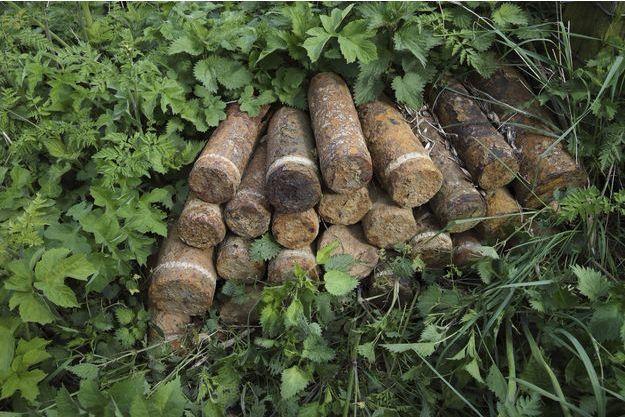 Des obus retrouvés à Colincamps, en France (Image d'illustration).