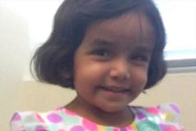 La petite Sherin a été retrouvée morte dimanche.