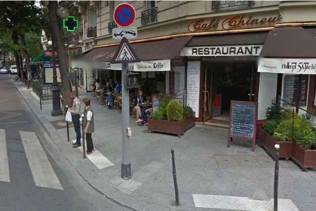 Le café de la rue d'Alésia où a eu lieu le meurtre.
