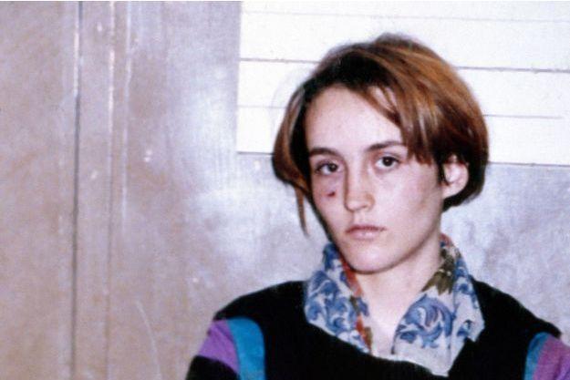 Florence Rey, au quai des Orfèvres, après son arrestation.