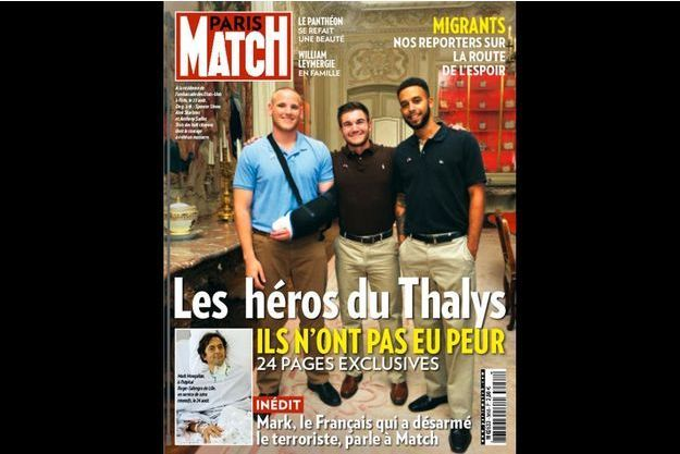 Spencer Stone, Alek Skarlatos et Anthony Sadler, les héros américains du train Thalys.