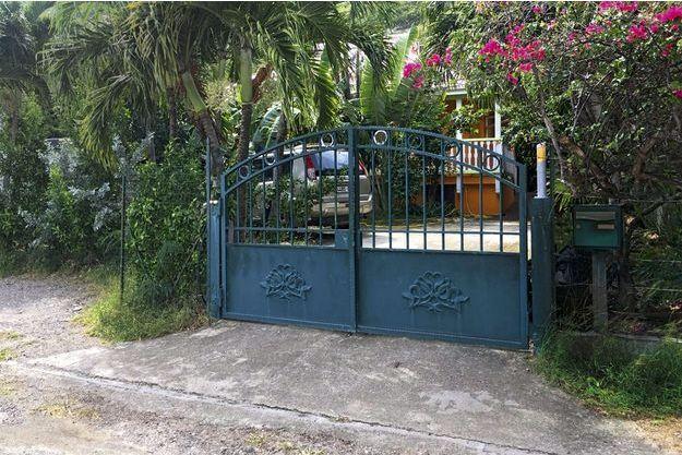 La villa achetée en 2010 dans le quartier tranquille de Mont-Vernon, à Saint-Martin.