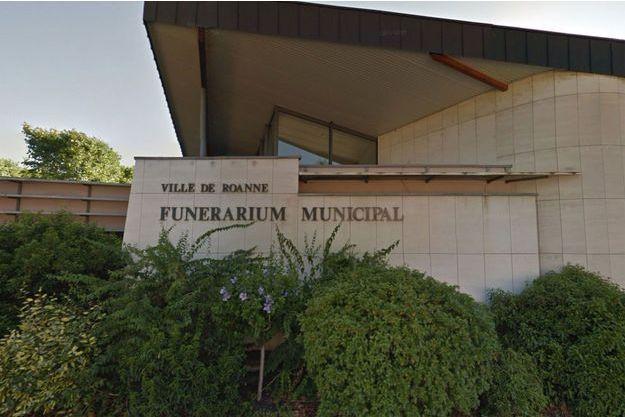 Capture d'écran Google Maps du funérarium de Roanne