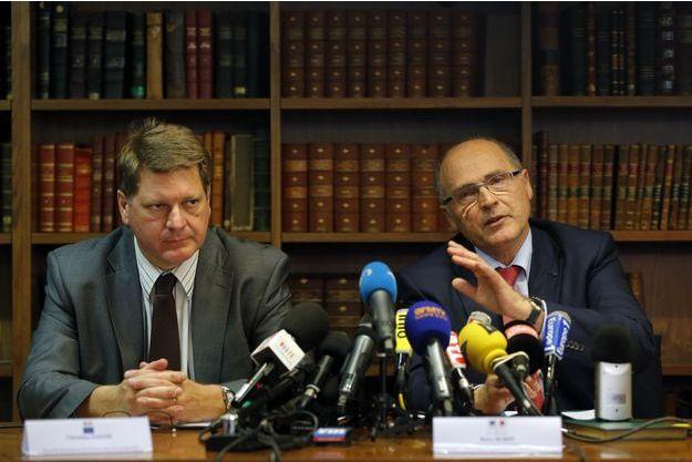 Christian Sainte et Brice Robin, lors de la conférence de presse donnée ce mardi à Marseille.