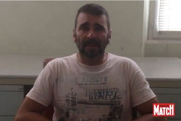 Francisco Benitez dans la vidéo publiée par Paris Match dimanche soir.