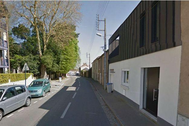 Le drame s'est produit dans cette rue de Nantes.