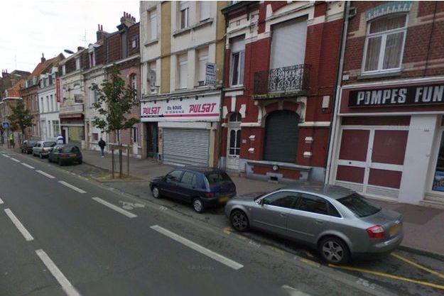 L'accident s'est produit dans cette rue de Lille.
