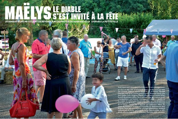Nordahl Lelandais devant la salle des fêtes de Pont-de-Beauvoisin, le 26 août, pendant le vin d'honneur.