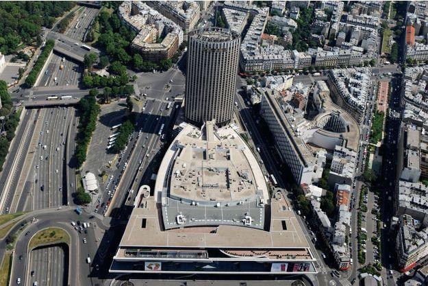Vue aérienne de la porte Maillot.